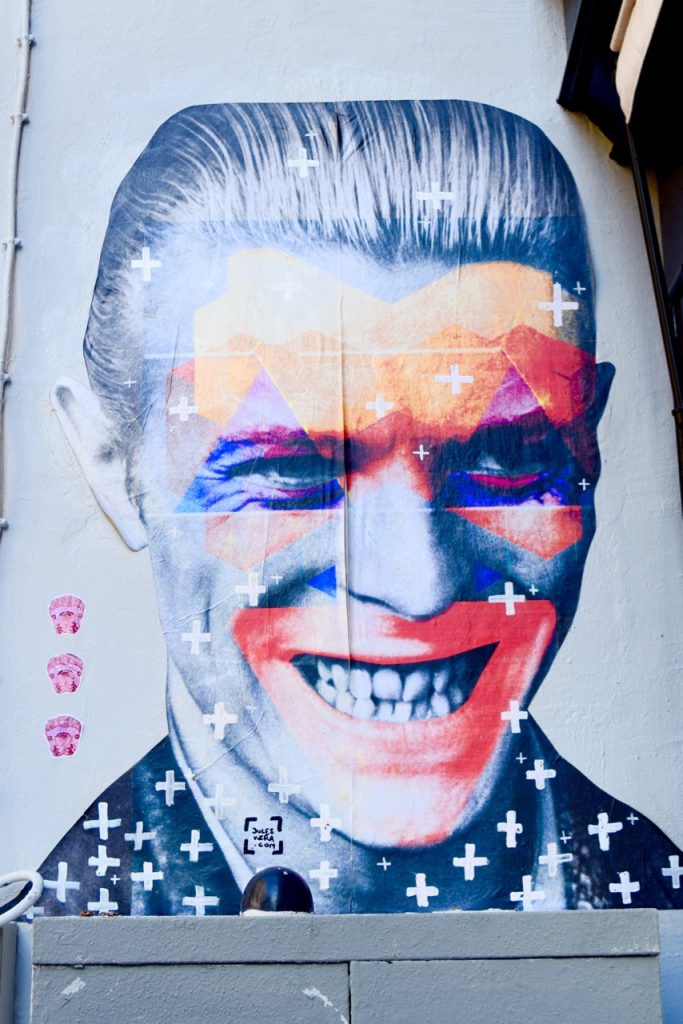 Parsi Street Art- David Bowie Tributes