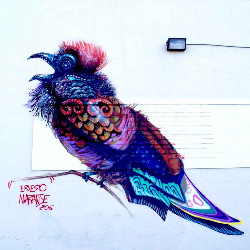 Street Artist Ernesto Maranje in teh eah Arts District of Hialeah, FL.
